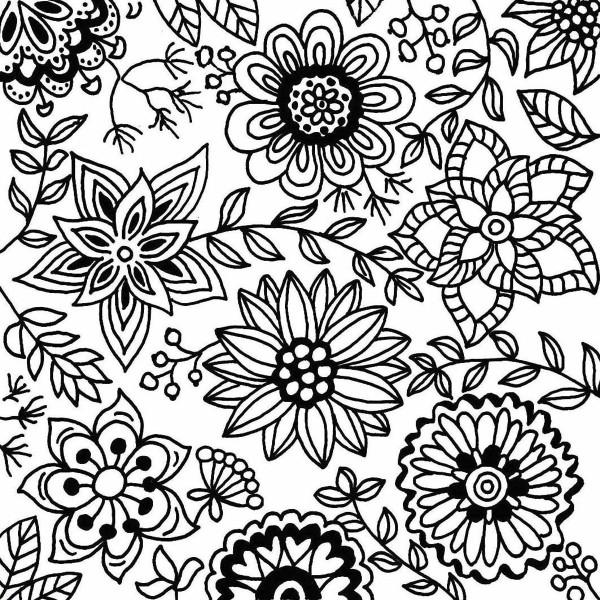 Texturmatte Gummi 9x9cm Blossoms