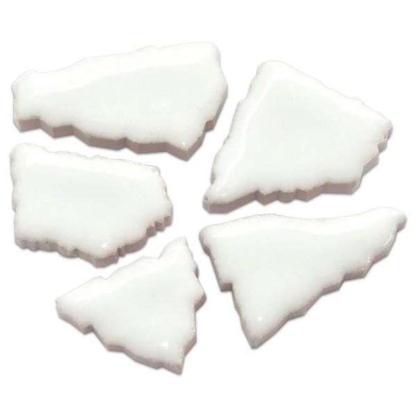 Flip-Keramik 2-6cm 3kg ca. 260 Steine polarweiß ca. 6,5mm