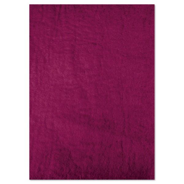 Naturfilzplatte ca. 5mm 50x70cm violett 100% Wolle