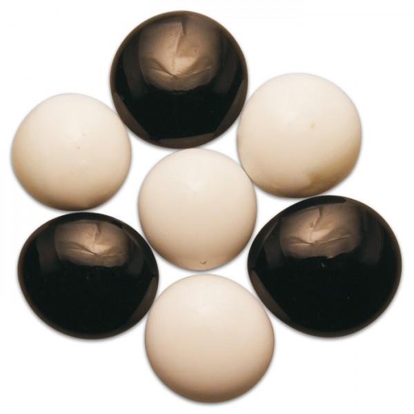 Glasnuggets Ø15-20mm 100g opak schw-weiß ca. 20-25 Steine