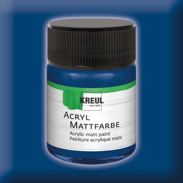 KREUL Acryl-Mattfarbe 50ml dunkelblau