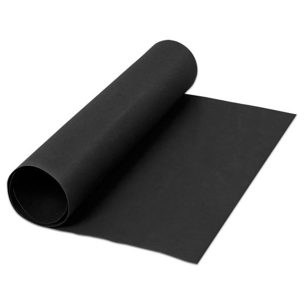 Kunstleder-Papier 0,55mm 50x100cm schwarz Cellulose-Latex-Mischung