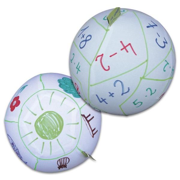 Der kreative Luftmatz Ø ca. 27cm weiß zum Selbstgestalten inkl. Ballon, Baumwolle