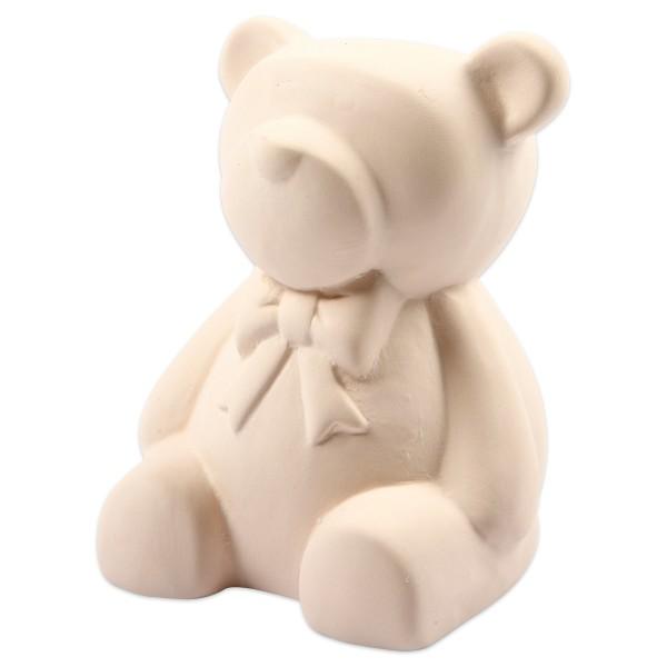 Spardose Bär Terrakotta 9cm hoch weiß