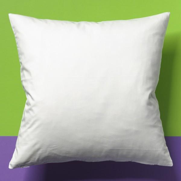Kissenhülle 39x39cm weiß 100% Baumwolle, mit Leinencharakter