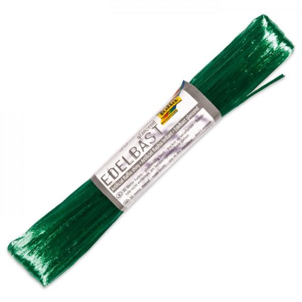 Edelbast glänzend Kunstfaser 30m smaragdgrün