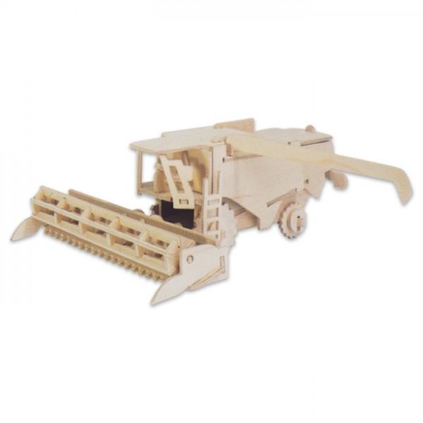 Holzbausatz Mähdrescher ca. 21x8,3x18,8cm 48 Teile vorgestanzt, zum Zusammenstecken