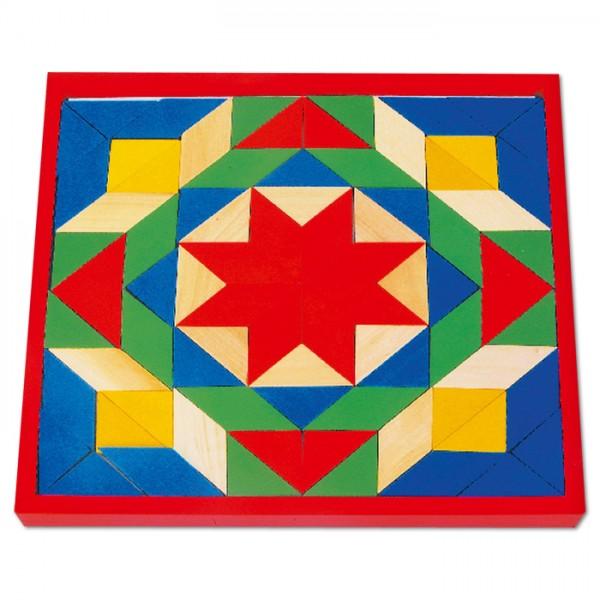 Spiel - Mosaik Holz 26x26cm 80 Steine ab 3 Jahren