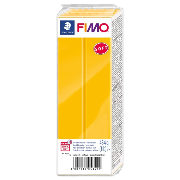 FIMO soft Großblock 454g sonnengelb ofenhärtende Modelliermasse