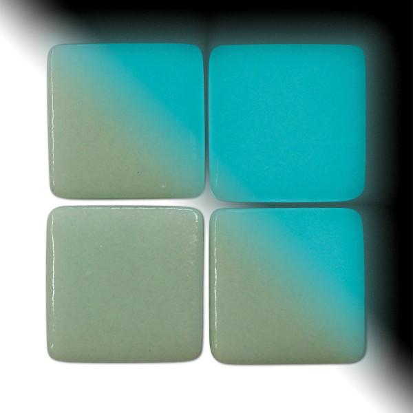 Mosaik Neon-Glas 25x25x4-4,5mm 100g Tag/Nacht grün/blau ca. 18 Steine
