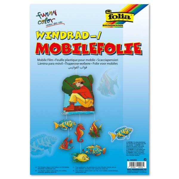 Mobilefolie 0,4mm 50x70cm 5 Bl. transparent Lampenfolie/Windradfolie, Kunststoff mit Hafteffekt