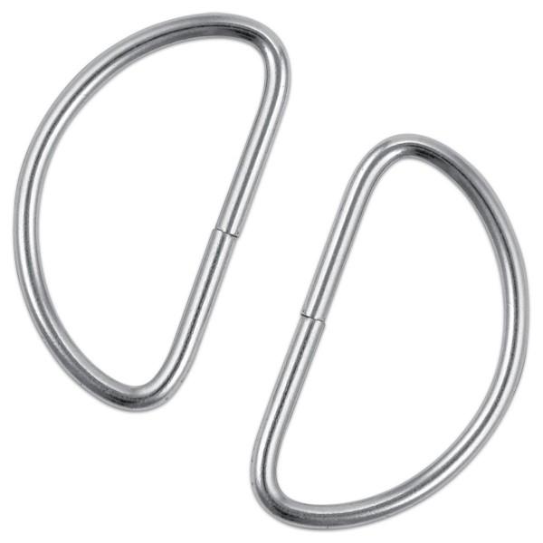 Metallhalbringe ca. 40x25mm 4 St. silberfarben D-Ringe