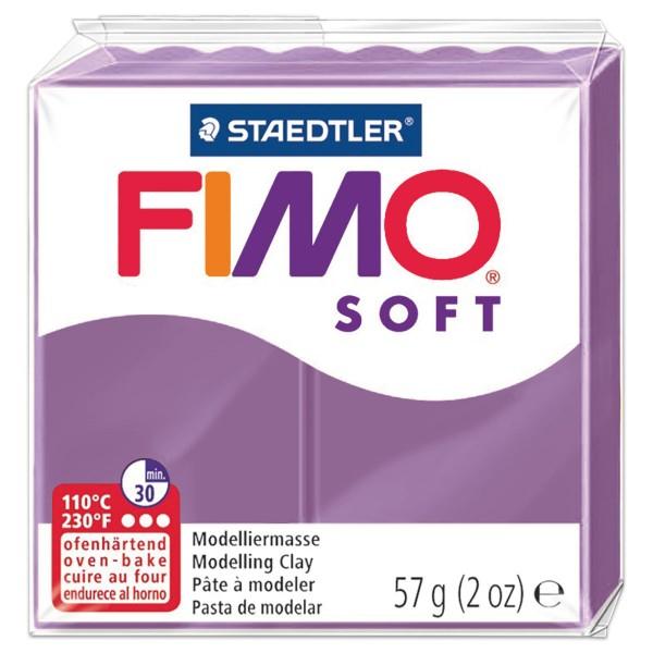 FIMO soft 55x55x15mm 57g lavendel ofenhärtende Modelliermasse