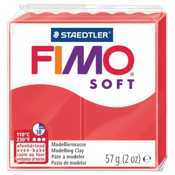 FIMO soft 55x55x15mm 57g flamingo ofenhärtende Modelliermasse