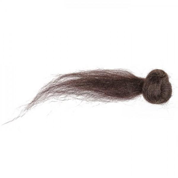 Kammzugwolle Merino 50g mokka 100% Wolle vom australischen Merinoschaf, max. 19mic