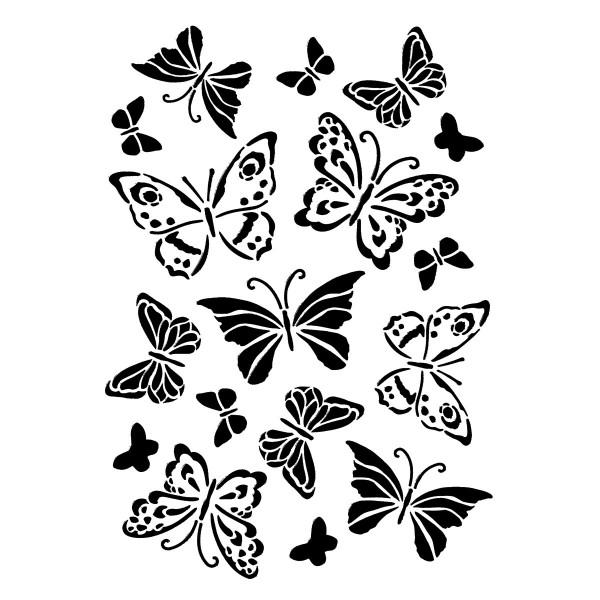 Universal-Schablone DIN A4 Schmetterlinge Kunststoff