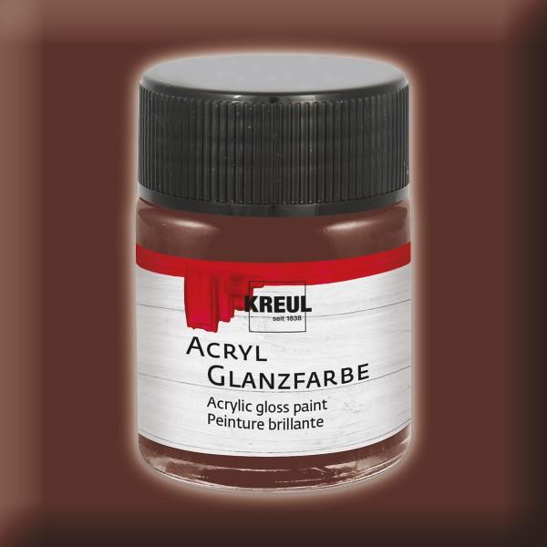 KREUL Acryl-Glanzfarbe 50ml dunkelbraun
