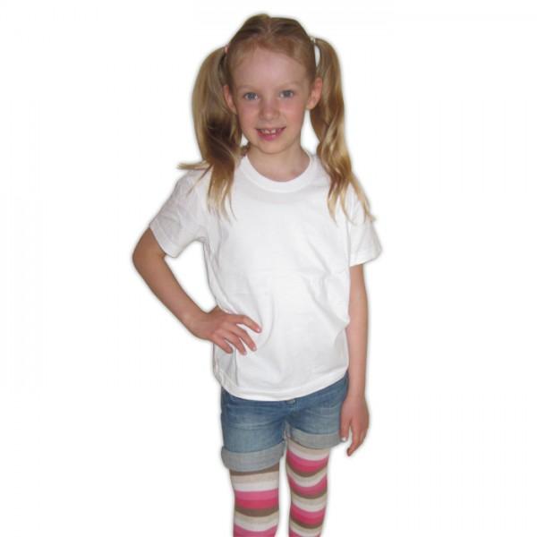 Junior T-Shirt weiß Größe 96-104 100% Baumwolle
