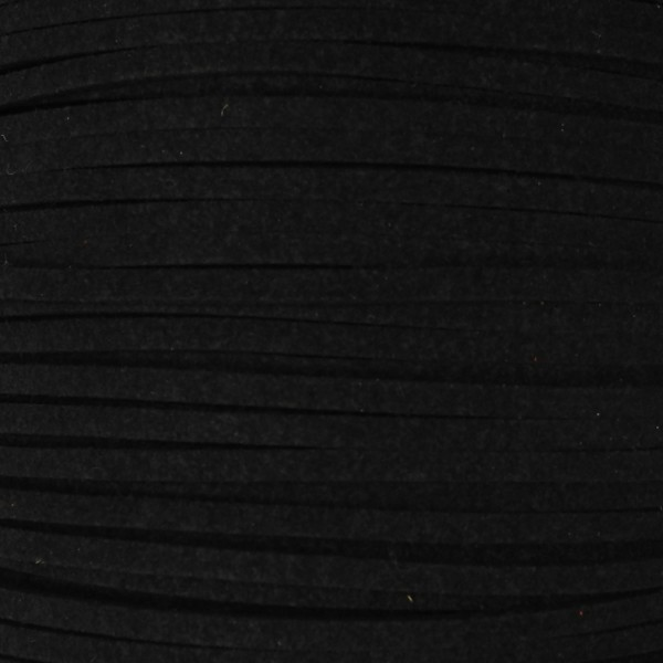 Veloursband textil 1,5 stark 3mm breit 5m schwarz 100% Polyester