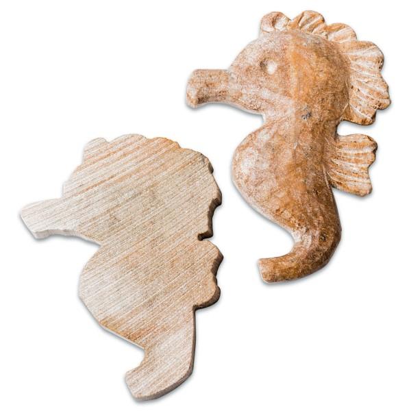 Speckstein-Rohlinge ca. 5x6cm 10 St. Seepferdchen Farbe zufällig