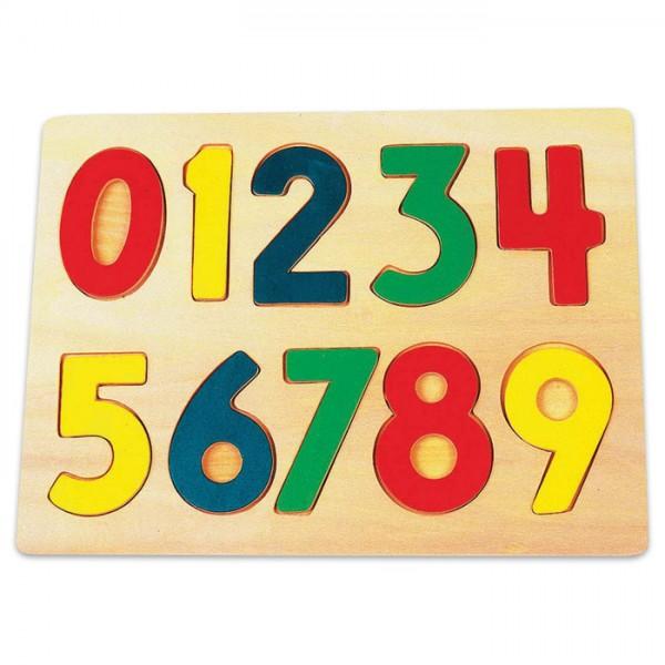 Spiel - Setzpuzzle Zahlen Holz 32x22x1cm ab 3 Jahren