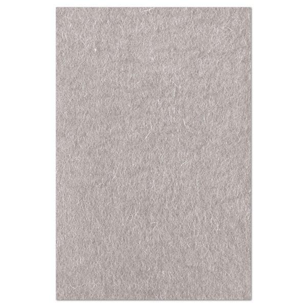 Wollfilz ca. 1-1,2mm 20x30cm grau 100% Wolle