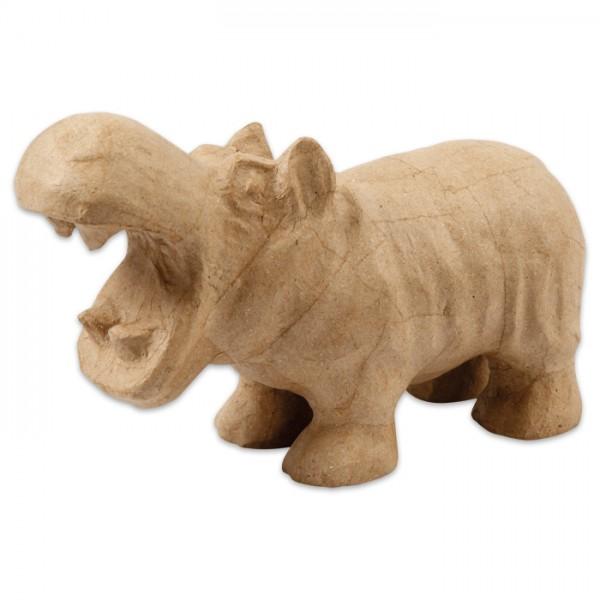 Hippo Pappmaché 28x15x10cm