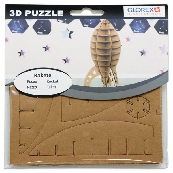 3D-Puzzle Pappe Rakete natur ca. 17x16,6x1cm