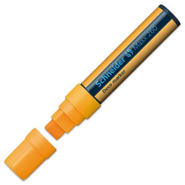 Kreidemarker Maxx 260 Blockspitze 5+15mm orange
