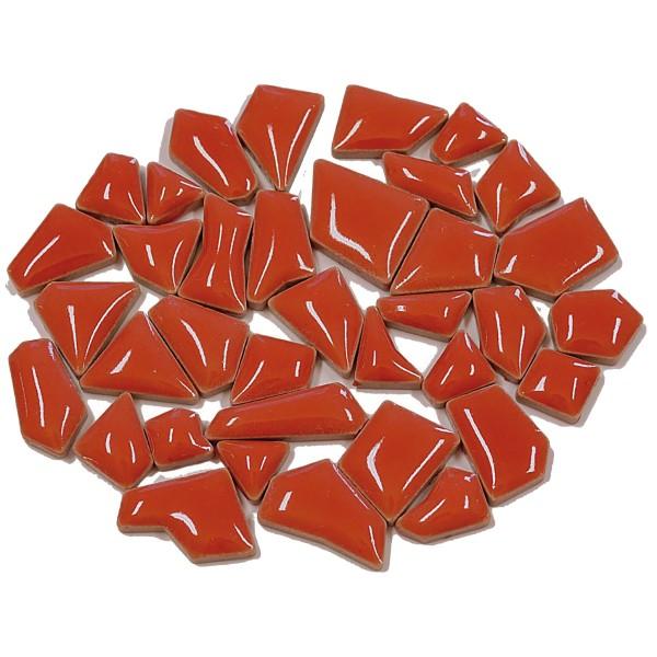 Flip-Keramik Mini 200g ca. 160 Steine kirschrot 5-20mm, ca. 4mm
