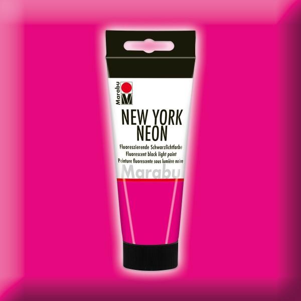 New York Neon Schwarzlichtfarbe 100ml neon-pink fluoreszierende Tagesleuchtfarbe