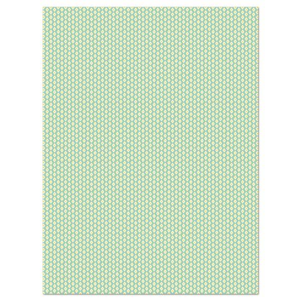 Decoupagepapier Rauten hellgrün von Décopatch, 30x40cm, 20g/m²