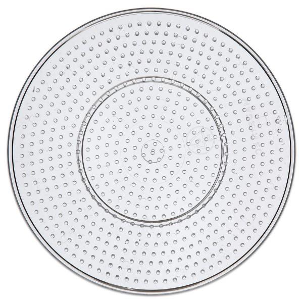 Steckplatte Kreis Kunststoff Ø 15cm transparent für Nabbi-Bügelperlen medium