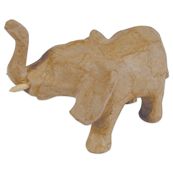 Elefant Pappmaché 13x5x13cm Größe XS, von Décopatch