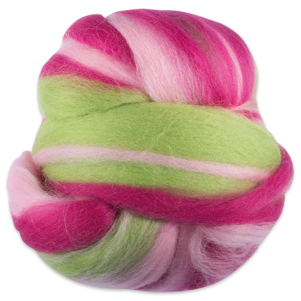 Multicolor-Merinowolle fein 100g feenfarben 100% Wolle, ca. 21mic