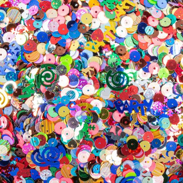 Pailletten-Mix verschiedene Formen/Farben/Größen 500g Kunststoff