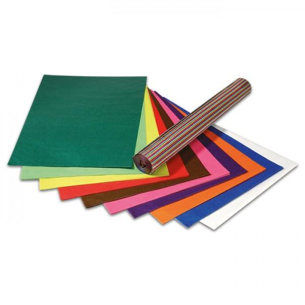 Transparentpapier 50x70cm 100 Bl. 10 Farben Drachenpapier, 42g/m²