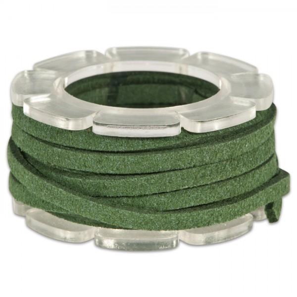 Veloursband textil 1,5 stark 3mm 2m tannengrün 50% Polyamid, 50% Nylon