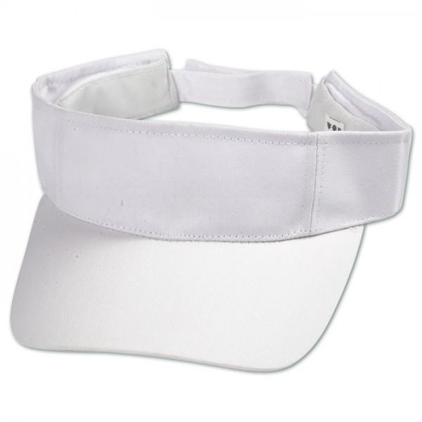 Schirmkappe größenverstellbar 56cm weiß 100% Baumwolle