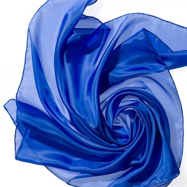 Nickituch Seide Pongé 05 55x55cm royalblau 100% Seide