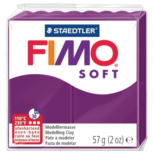 FIMO soft 55x55x15mm 57g purpurviolett ofenhärtende Modelliermasse