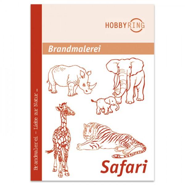 Brandmalerei Vorlagenbogen Safari DIN A3, 10 Motive