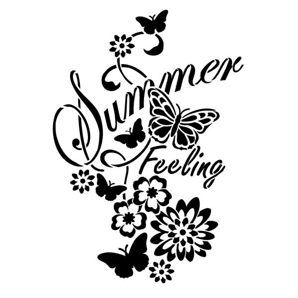Universal-Schablone DIN A4 Summer Feeling Kunststoff