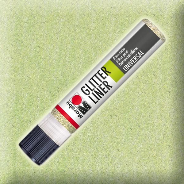 Marabu Glitter Liner 25ml champagner universelle Effektfarbe