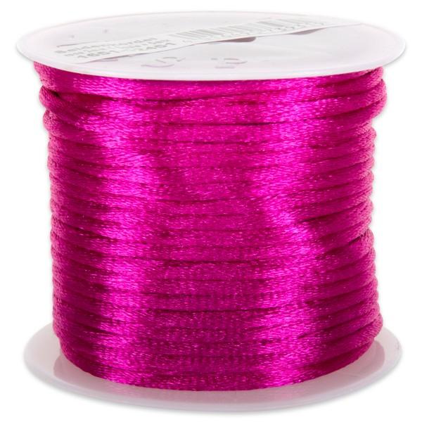 Seidenschnur glänzend 2mm 5m rosa/pink 100% Polyester