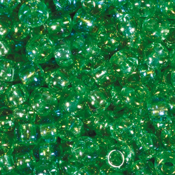 Rocailles transparent AB 2,6mm 17g grün Glas, Lochgr. ca. 0,9mm