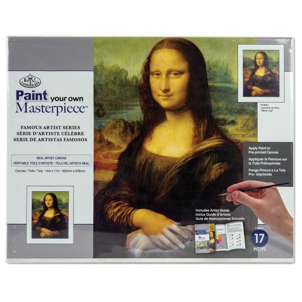 Malen auf Keilrahmen Mona Lisa - Leonardo da Vinci ca. 27,9x35,5x1,9cm