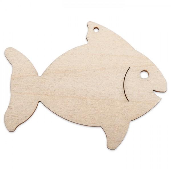 Holzmotiv Fisch 3mm stark ca. 6cm natur