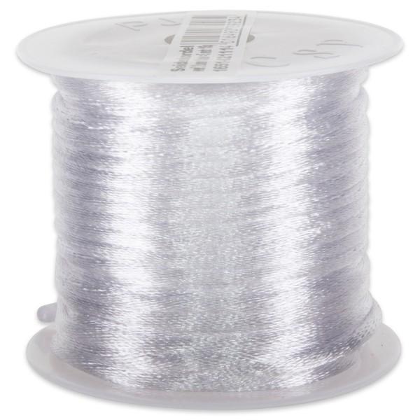 Seidenschnur glänzend 2mm 5m weiß 100% Polyester