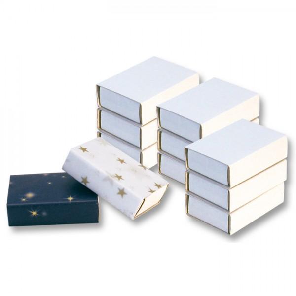 Streichholzschachteln 52x35x14mm 10 St. weiß Karton, ohne Reibfläche & Inhalt